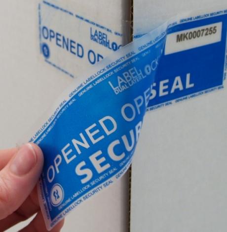 Защитен етикет с остатъчна следа